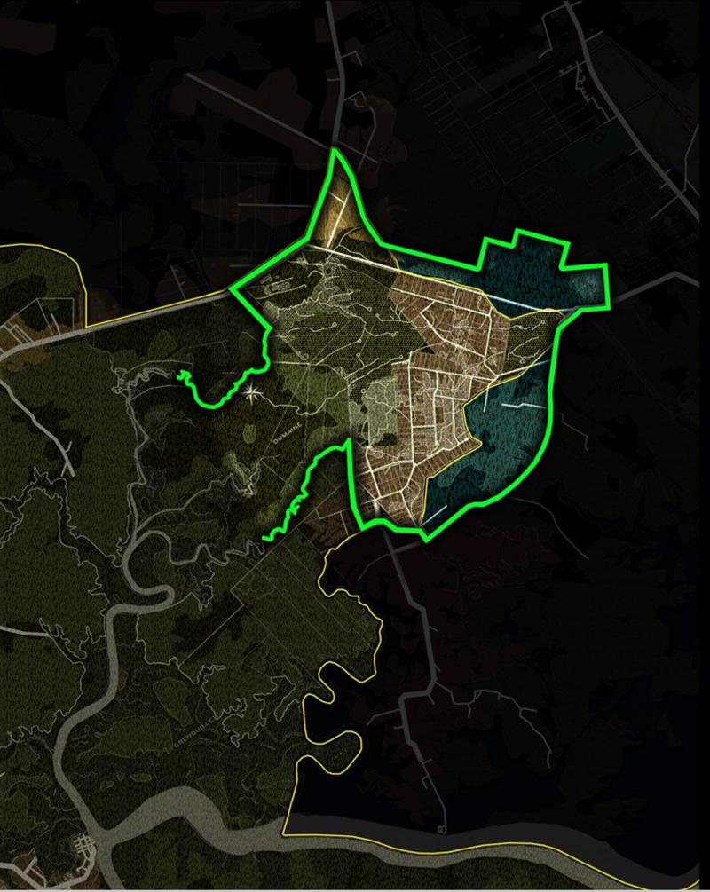 DU_Etude urbaine a Montsinery La Carapa_périmètre du site La zone AUa