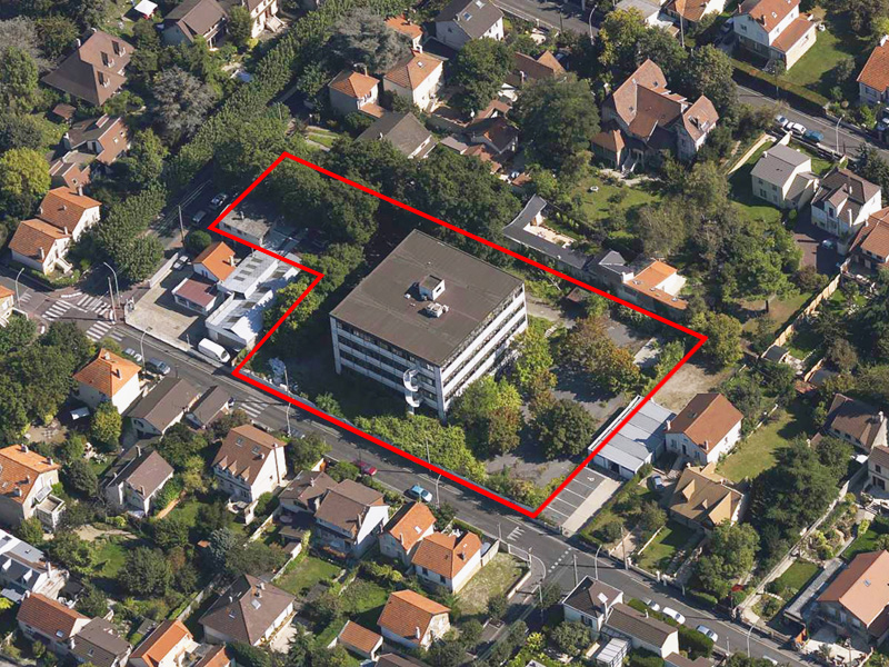 DU_Aulnay-sous-bois ancien centre des impots_vue oblique du centre