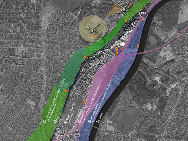 DU_Athis Mons ancien site LU_localisation du site un developpement horizontal