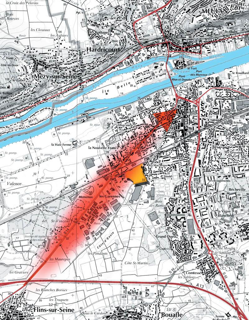 DU_Les Mureaux Etude urbaine_developpement de l'axe