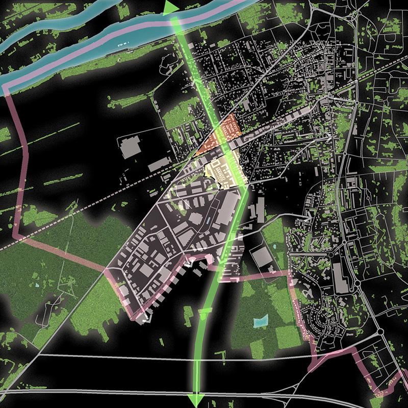 DU_Les Mureaux Etude urbaine_plan des masses vegetales