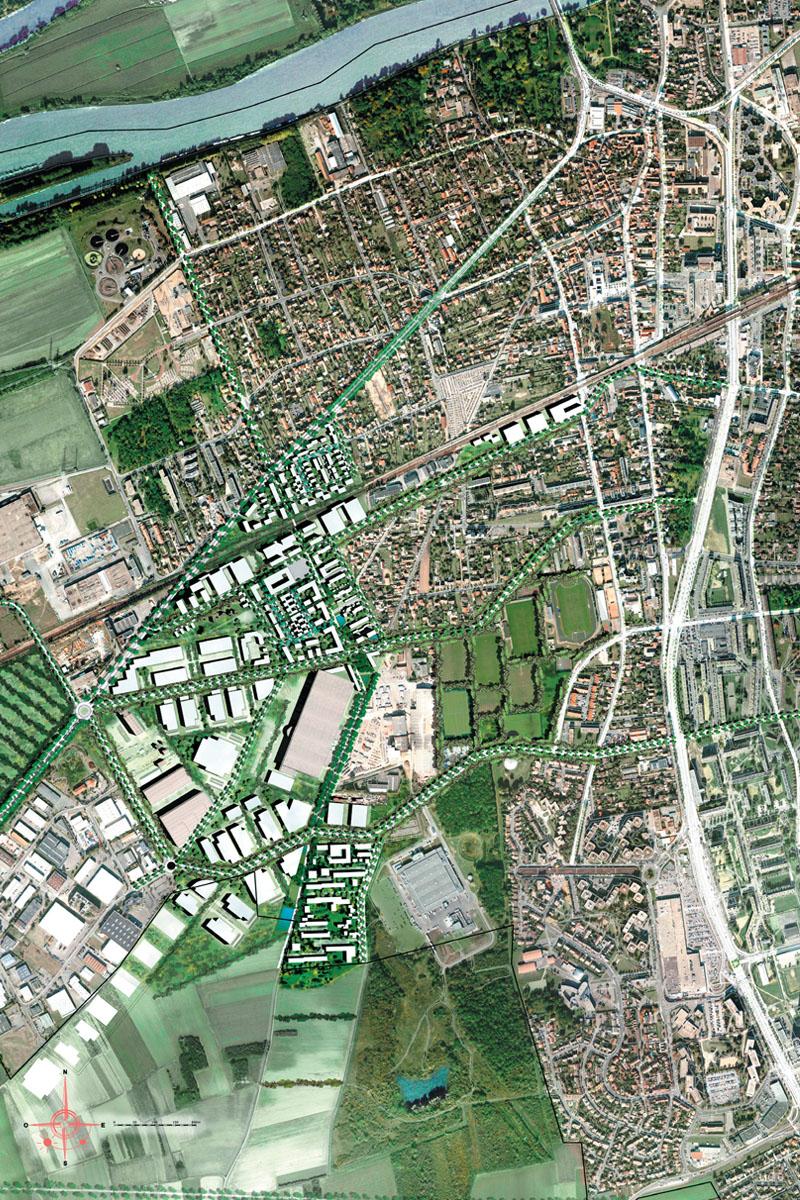 DU_Les Mureaux Etude urbaine_plan masse inseré
