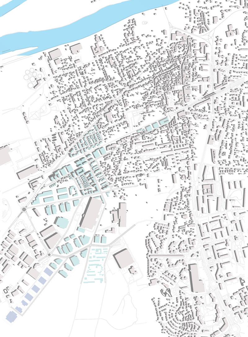 DU_Les Mureaux Etude urbaine_projet urbain bati