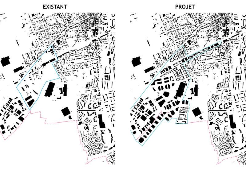 DU_Les Mureaux Etude urbaine_rayons x avant et après