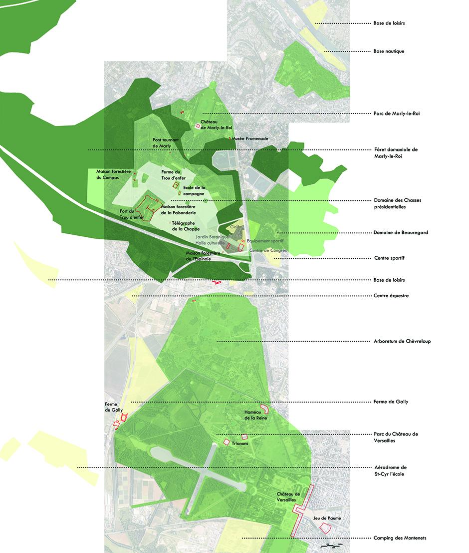 La plaine de villevert se fond dans son environnement naturel