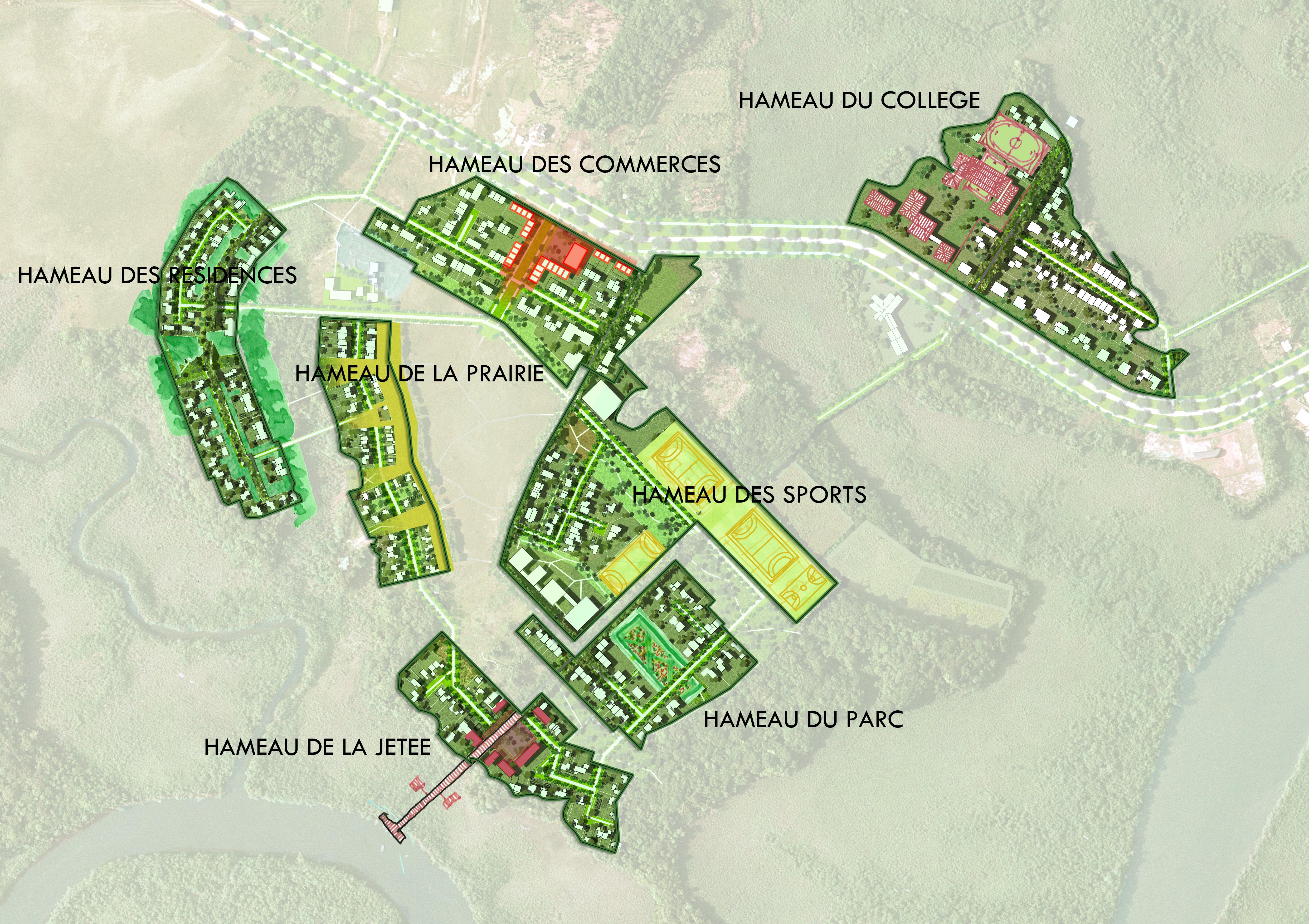 plan des hameaux