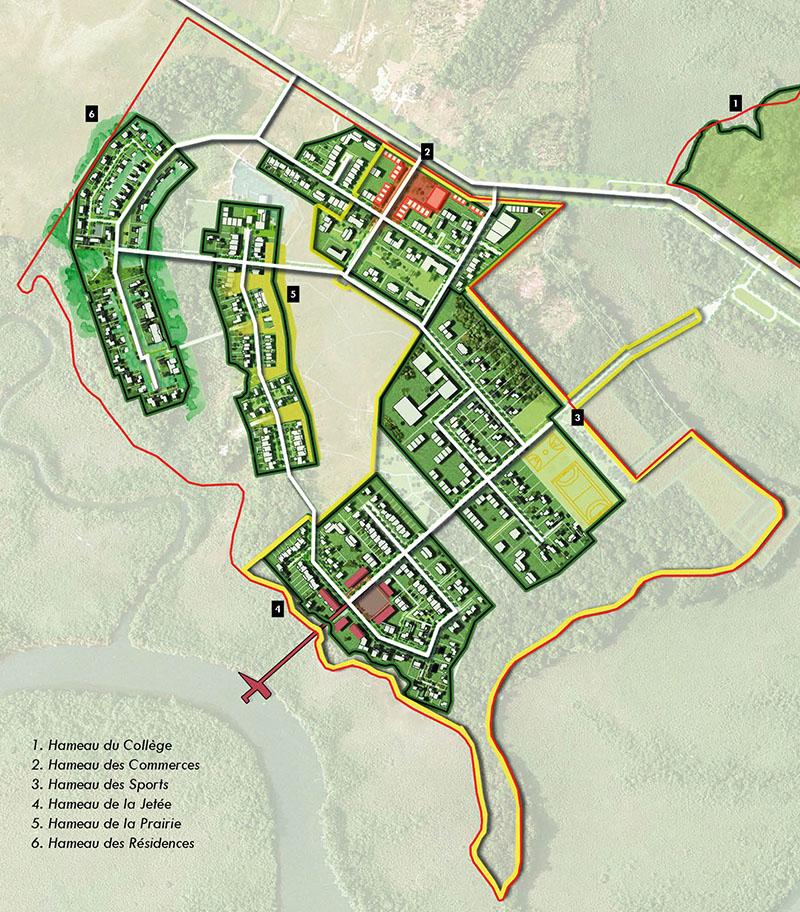 Montsinery Maitrise d'oeuvre urbaine en Guyane_principe des hameaux