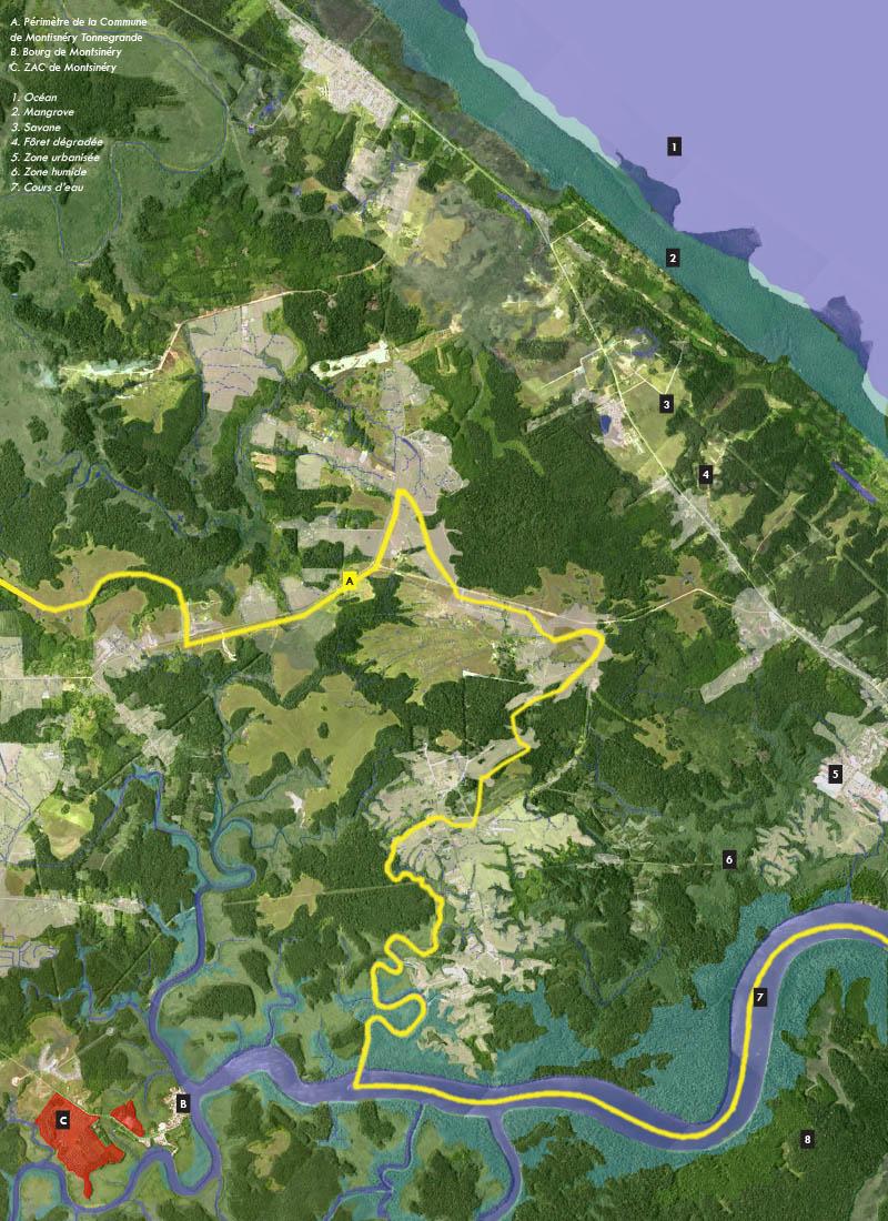 Montsinery Maitrise d'oeuvre urbaine en Guyane_localisation